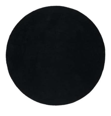 ikea black round rug