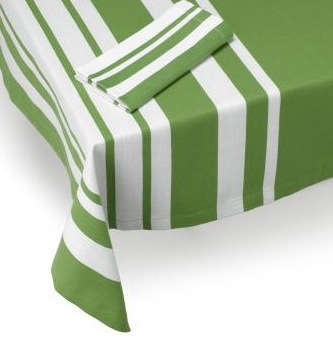 jamie oliver pea green striped tablecloth