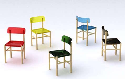 jasper morrison trattoria chair colored