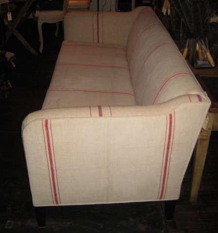 john derian grain sack sofa side