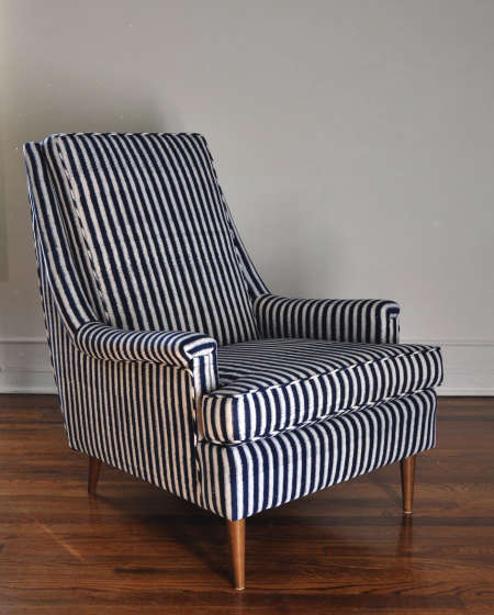 les indiennes striped chair