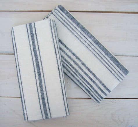 manos blue tea towel