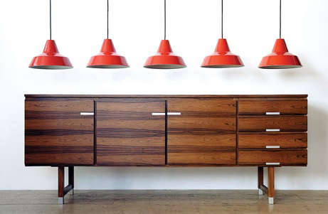 modern warehouse red lamps