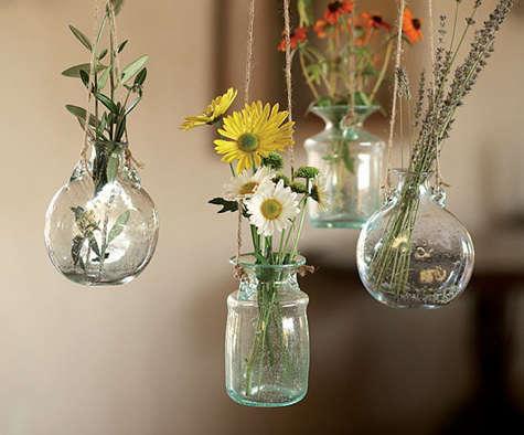 napa bolla glass hanging vases