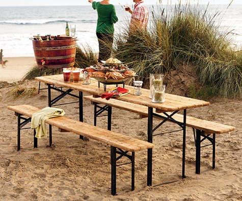 napa style biergarten picnic set