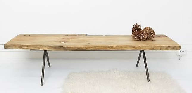 natural wood table bench by ohio designs