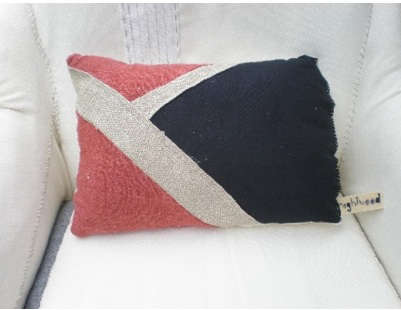 nightwood red blue pillow