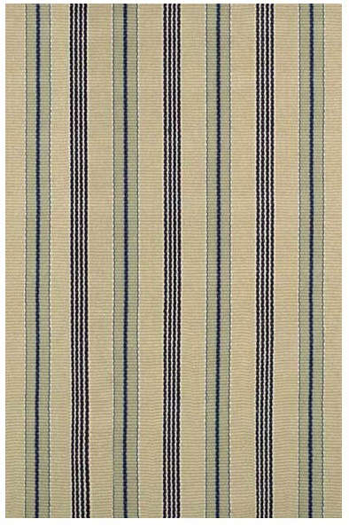 nimes ticking cotton woven rug