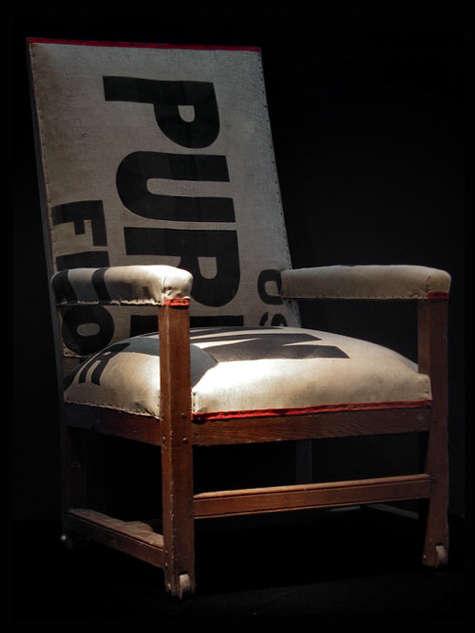 obsolete flour sack chair