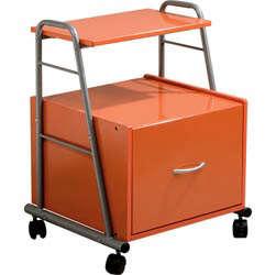 orange file cabinet
