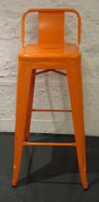 orange tabouret stool
