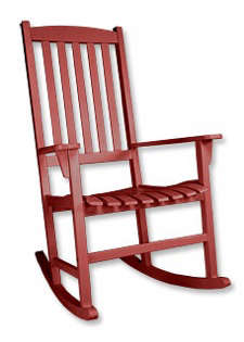 Furniture Red Orvis Porch Rocker portrait 3_11