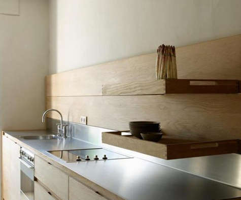 Kitchen Trays as Shelving portrait 4