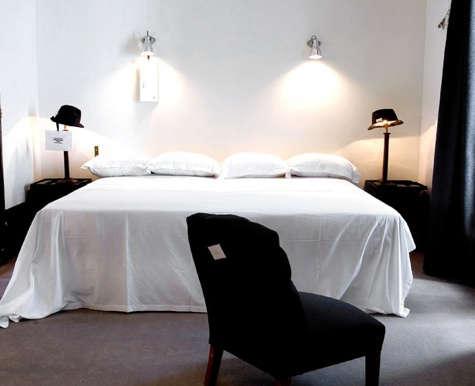 paris hotel b w bedroom