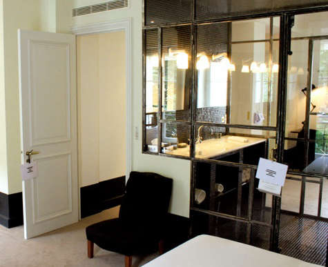 paris hotel black and white bedroom 2