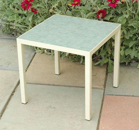 plain air side table blue