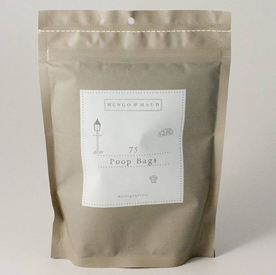 dog biodegradable poop bags from mungo & maud 24