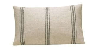 pottery barn french stripe pillow