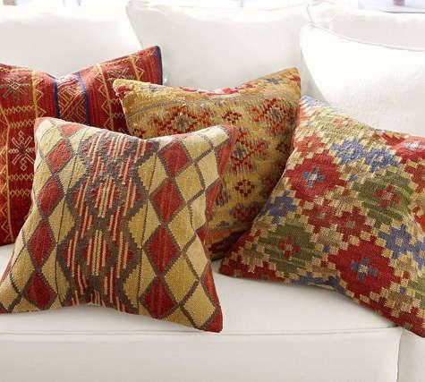 pottery barn kilim pillows