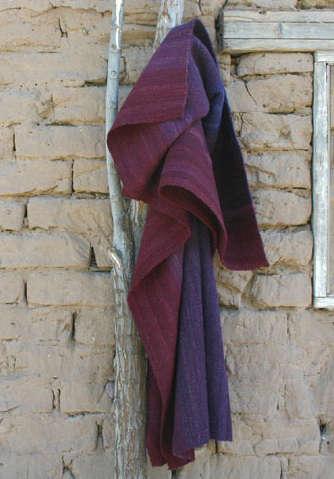 purple bolivian throw hanging