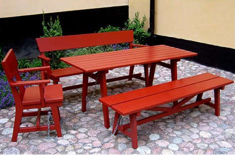 Outdoors Nola Tables and Benches from Sweden portrait 4