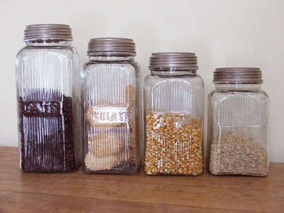 retro glass storage containers