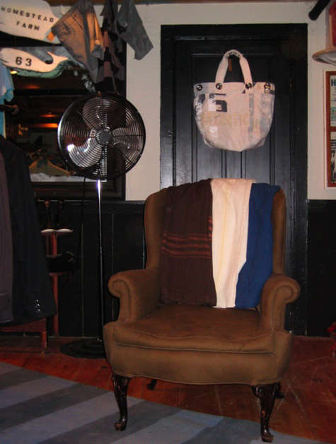 rogues gallery chair with swans island blankets