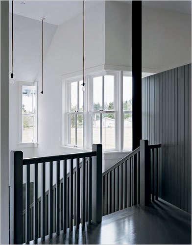 Architect Visit Roy McMakin Stairwell portrait 3