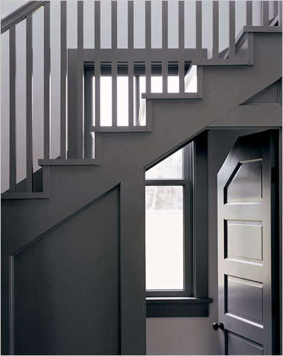 Architect Visit Roy McMakin Stairwell portrait 4