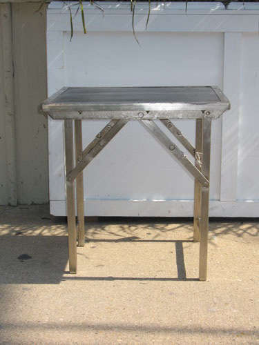 ruby beets metal topped table