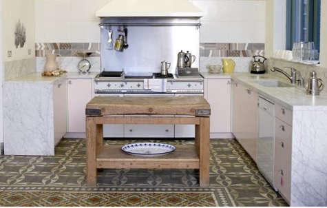 ruby gatta mosaic tile floor kitchen