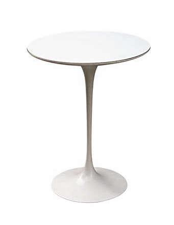 saarinen white laminate side table