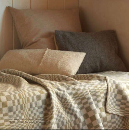 selvedge cushions and throw
