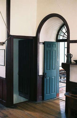shaker arched doorway