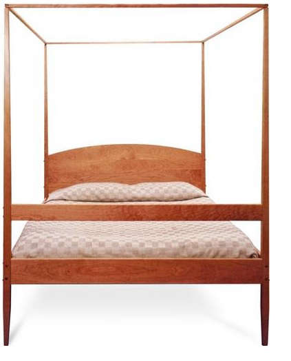 shaker four poster bed