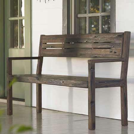 ship wood bench