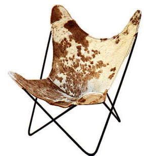 spotted cowhide butterfly chair