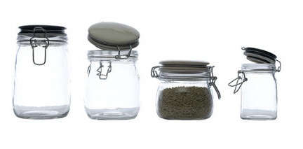 storage jars with ceramic lids