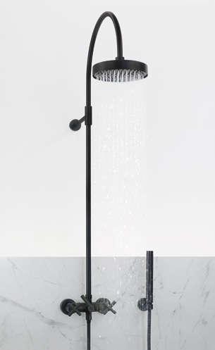 tara black edition wall mounted shower