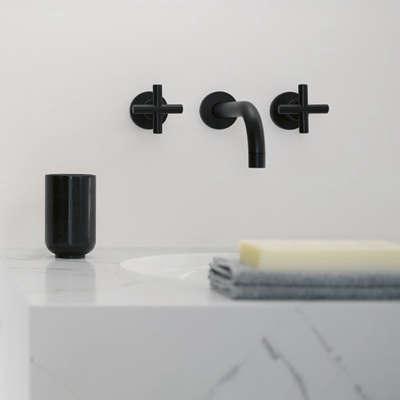 Bath Dornbracht Tara Black and White Edition Faucets portrait 4