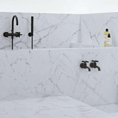 Bath Dornbracht Tara Black and White Edition Faucets portrait 5
