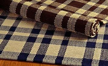tattersal plaid cotton rug shaker workshop