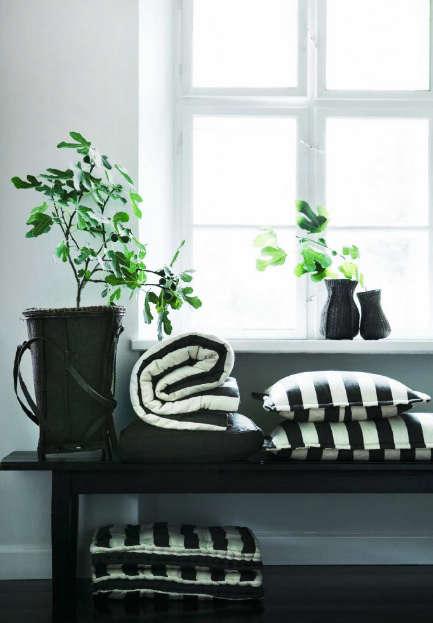 tine k black white pillows