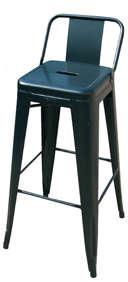 tolix stool with short back 1_13