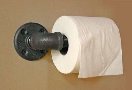 Bath Industrial Toilet Roll Holder portrait 2