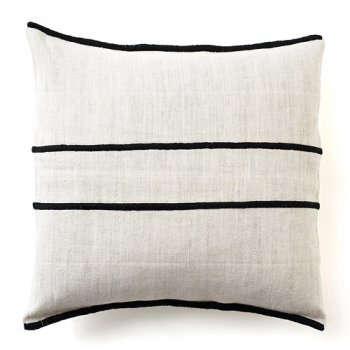trans striped pillow black lrg
