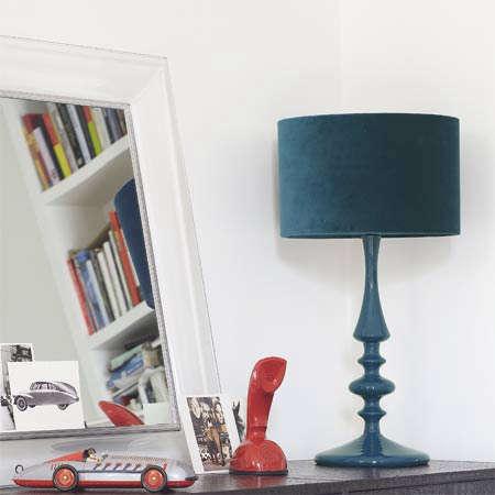 Lighting Turned Wood Table Lamp from Graham  Green portrait 3