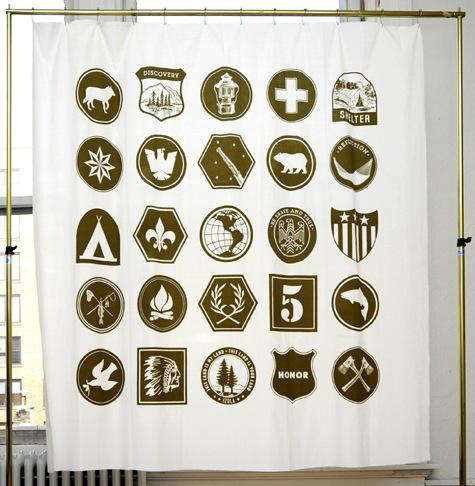 Izola scout shower curtain