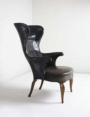 frits henningsen wingback chair 2