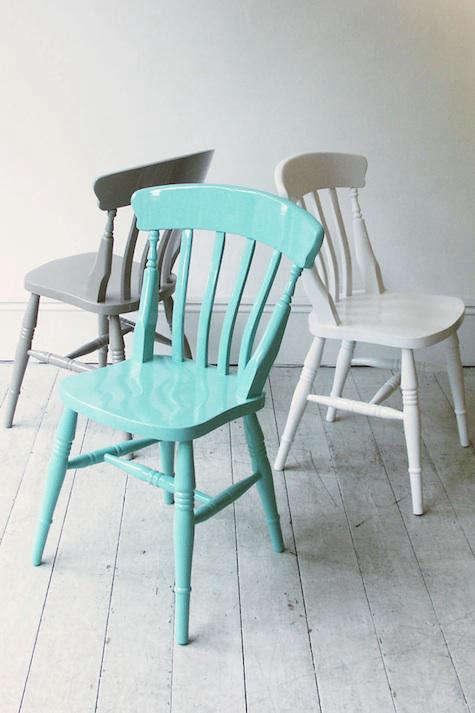 howe windsor chair blue